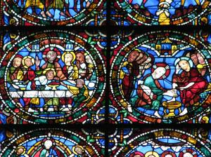 2. Last Supper and Jesus Washing Feet, Chartres Cathedral, France