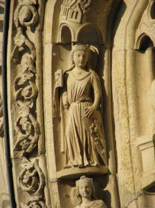 Fortitude, from St. Anselm's 10 Virtues, Chartres Cathedral, France