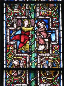 7. Mary Magdalene and the Angel, Elder Biblical Window, Cologne Cathedral, Germany