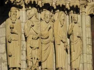 Melchizadek, Abraham, Moses, Aaron, David at Chartres Cathedral