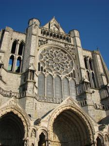 The North Porch at Chartres Cathedral, France