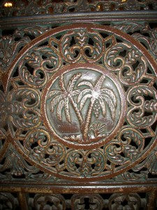 Palm Tree Pew Carving, Immaculate Conception Jesuit Parish, New Orleans