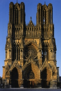 Postcard of Reims Cathedral, France