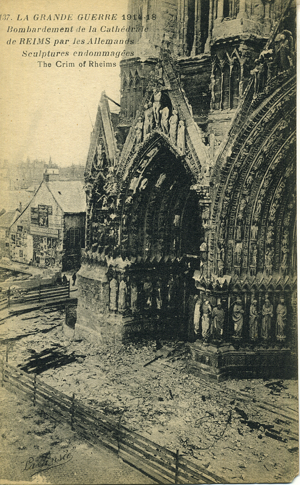 Reims Cathedral Ww1 Reims Cathedral as it Looked