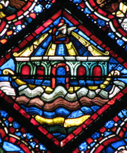 Ark and Dove; Noah Window, Chartres Cathedral