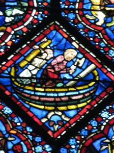 5. Building the Ark, Noah Window, Chartres Cathedral