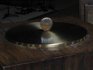 Scallop Shell on Baptismal Font, Our Redeemer Luther Church