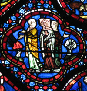 6. Women Talking, Noah Window, Chartres Cathedral