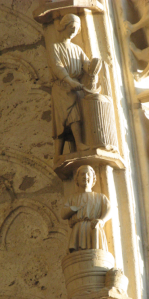 2. Statues representing August and September, Chartres Cathedral