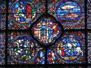 Donors, January, and February, Chartres Cathedral