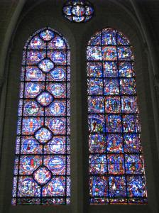 1. Calendar (left) and Life of Mary Windows, Chartres Cathedral, France