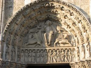 Christ in Majesty with Tetramorph, Chartres Cathedral, France
