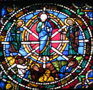 Transfiguration Panel with Christ in Mandorla, Chartres Cathedral, France