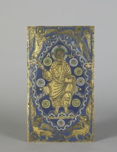 19. Christ in Majesty Plaque (French champleve enamel) , ca. 1200, Walters Art Museum, Baltimore
