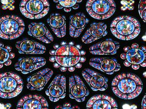 South Rose Window Detail, Chartres Cathedral, France