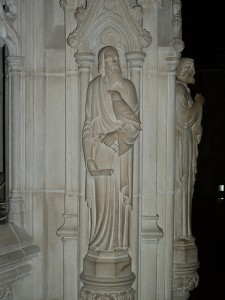 St. John holding an Eagle, Pulpit Sculpture, Washington National Cathedral, DC