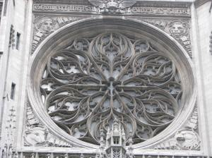 2. Rose Window with Winged Man, Lion, Eagle and Bull; St. Thomas, NYC