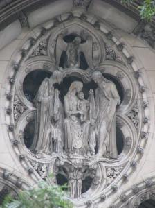 Holy Family in Mandorla above South Portal, Cathedral of St. John the Divine, NYC