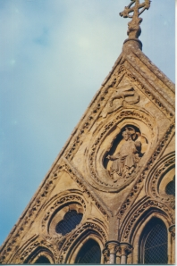 Christ in Mandorla, West Facade Gable, Salisbury Cathedral, England