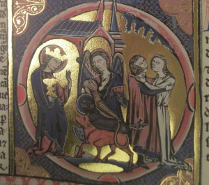 Tetramorph in St. Louis Bible, circa 1230; Reproduction at St. Louis Cathedral, New Orleans, of Original in Toledo, Spain