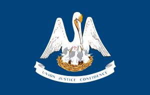 14. Flag of Louisiana, image courtesy of Wikipedia