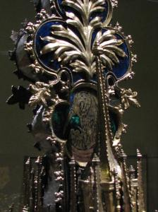 Pelican & Chicks Enamel Inlay on Processional Cross, Walters Art Museum