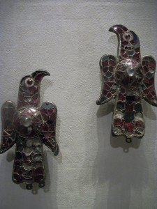 2. Eagle Fibulae (clasps for robes), 6th Century