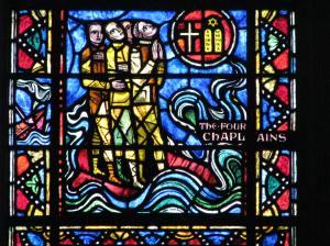 12. Four Chaplains Panel, Sacrifice for Freedom Window, Washington National Cathedral