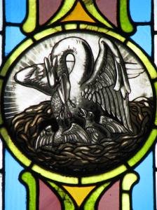 Pelican & Chicks, St. Wenceslaus Church, Iowa City, IA