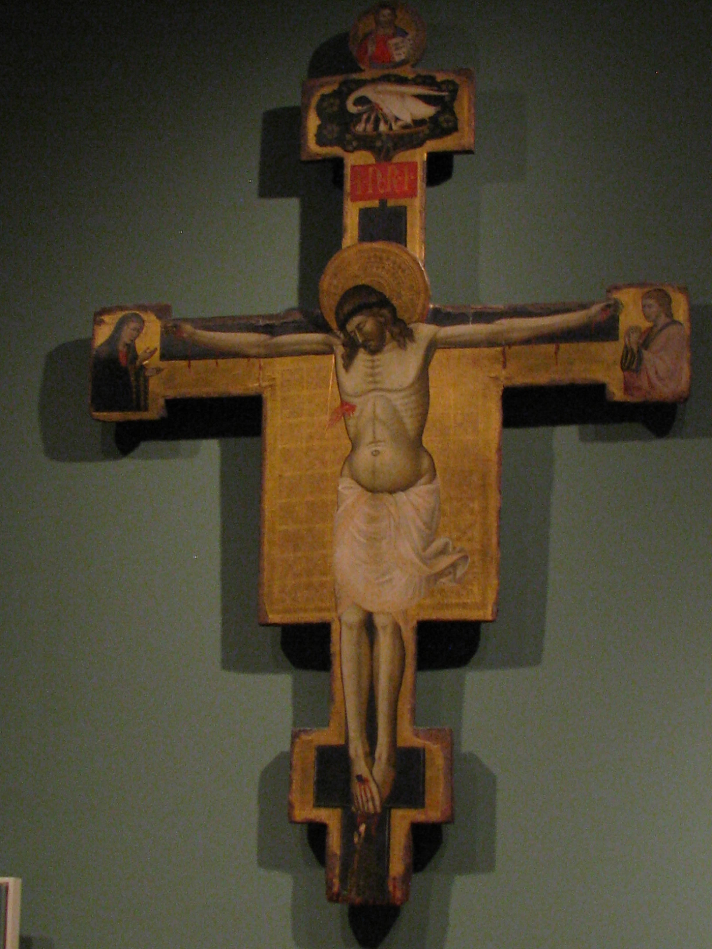 Sacred symbols the pelican mandorlas in our midst painted crucifix 14th century italian st louis art museum st louis biocorpaavc Choice Image