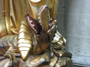 Defeated Dragon, Cathedral of Sts. Michael & Gudula, Brussels