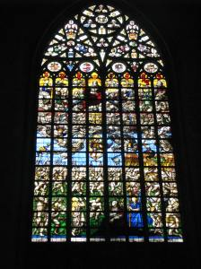 Last Judgment Window, Cathedral of Sts. Michael & Gudula, Brussels