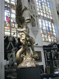 St. Michael and Satan, Cathedral of Sts. Michael & Gudula, Brussels
