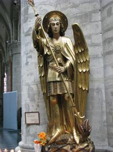 St. Michael and Dragon, Late Middle Ages, Cathedral of Sts. Michael & Gudula, Brussels