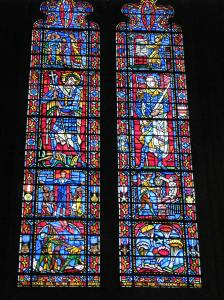 St. Michael (center left) in the Freedom Window, Washington National Cathedral, DC