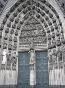 2. Portal with St. Michael Trumeau, Kolner Dom, Cologne, Germany (click to enlarge)