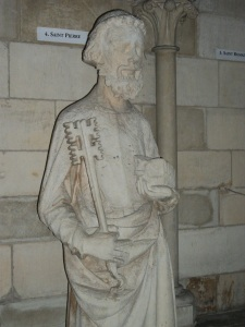 1. St. Peter Sculpture, 13th Century, Rouen Cathedral, France