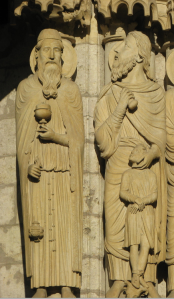 11. Melchizadek (L) and Abraham & Issac (R), Chartres Cathedral, France