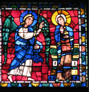 3. Annunciation Panel in the Life of Christ Window, Chartres Cathedral, France