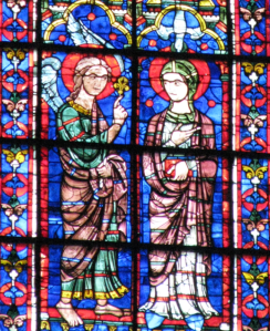 4. Annunciation Window, Apse Lancet, Chartres Cathedral, France