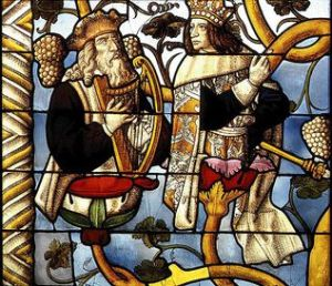 King David (left) and Solomon, Jesse Tree Window, Cologne Cathedral, Germany