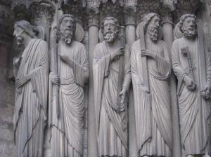 Peter (far right) with other Apostles; Chartres Cathedral's South Porch, France