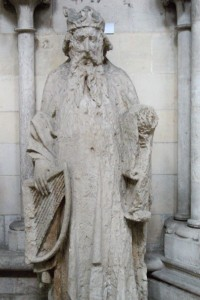King David with Harp, Rouen Cathedral, France