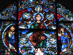 13. Jesus with Habakkuk & Zephaniah, Jesse Tree Window, Chartres Cathedral, France