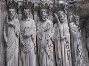 2. St. John (2nd from left) with Apostles, South Porch, Chartres Cathedral