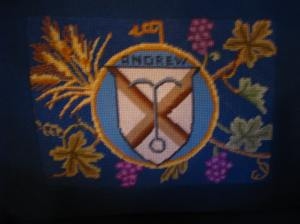 St. Andrew's Cross in Needlepoint, Trinity Episcopal Cathedral, Davenport, IA