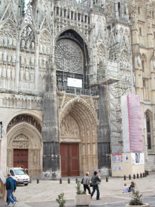 West Facade and Portals, Rouen Cathedral, Rouen, France