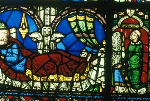 3. Jesse (L) and Suger (R), Jesse Tree Window, Abbey Church of St. Denis, France