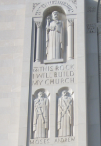 19. Andrew paired with Moses, West Facade, Shrine of the Immaculate Conception