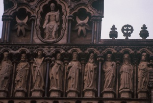 5. St. John with Chalice (4th from left), Wells Cathedral, Somerset England